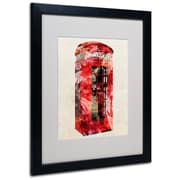 Trademark Fine Art Michael Tompsett 'Telephone Box' Canvas Art 14x19 Inches