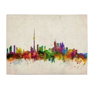 Trademark  Fine  Art Michael Tompsett 'Toronto Skyline' Canvas Art 14x19 Inches