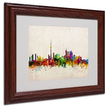Michael Tompsett 'Toronto Skyline' Matted Framed Art - 16x20 Inches - Wood Frame