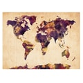Trademark Fine Art Michael Tompsett 'Watercolor Map 2' Canvas Art 22x32 Inches