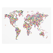 Trademark Fine Art Michael Tompsett 'Stars World Map' Canvas Art 30x47 Inches