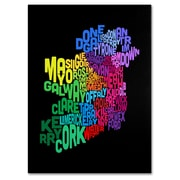 Trademark Fine Art Michael Tompsett 'Ireland Text Map 4' Canvas Art 14x19 Inches