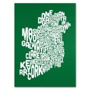 Trademark Fine Art Michael Tompsett 'FOREST-Ireland Text Map' Canvas Art 14x19 Inches
