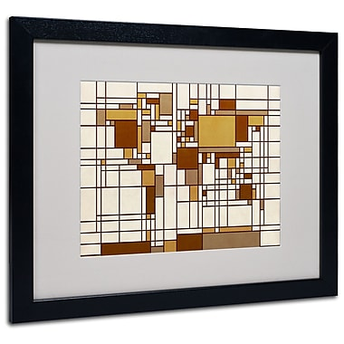 Michael Tompsett 'Mondrian World Map' Matted Framed Art - 11x14