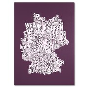 Trademark Fine Art Michael Tompsett 'MULBERRY-Germany Regions Map' Canvas Art 22x32 Inches