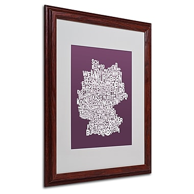 Michael Tompsett 'MULBERRY-Germany Regions Map' Framed - 16x20 Inches - Wood Frame