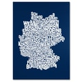 Trademark Fine Art Michael Tompsett 'NAVY-Germany Regions Map' Canvas Art 16x24 Inches