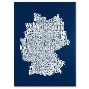 Trademark Fine Art Michael Tompsett 'NAVY-Germany Regions Map' Canvas Art 22x32 Inches