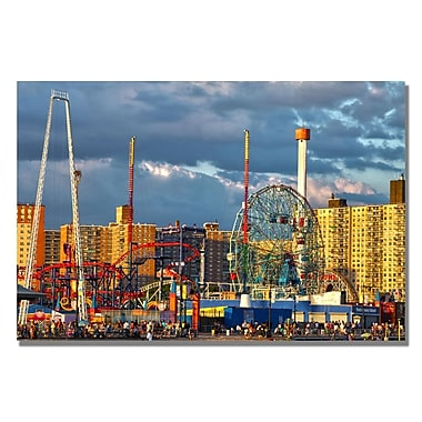 Trademark Fine Art CATeyes 'Coney Island' Canvas Art 16x24 Inches