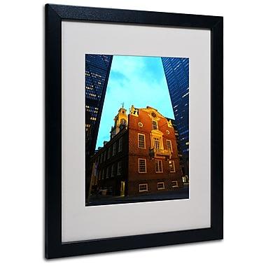 Trademark Fine Art CATeyes 'Boston' Matted Art Black Frame 16x20 Inches