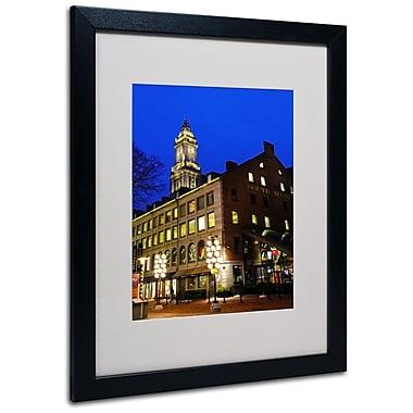 Trademark Fine Art CATeyes 'Boston 3' Matted Art Black Frame 16x20 Inches