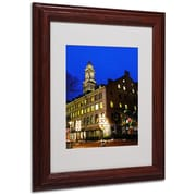CATeyes 'Boston 3' Matted Framed Art - 11x14 Inches - Wood Frame