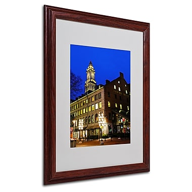CATeyes 'Boston 3' Matted Framed Art - 16x20 Inches - Wood Frame