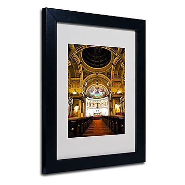 Trademark Fine Art CATeyes 'St. Leonards' Matted Art Black Frame 16x20 Inches
