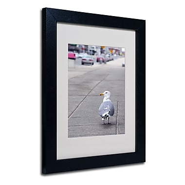 Trademark Fine Art CATeyes 'Boston 4' Matted Art Black Frame 11x14 Inches