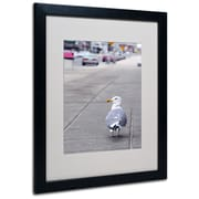 Trademark Fine Art CATeyes 'Boston 4' Matted Art Black Frame 16x20 Inches