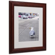 CATeyes 'Boston 4' Matted Framed Art - 11x14 Inches - Wood Frame
