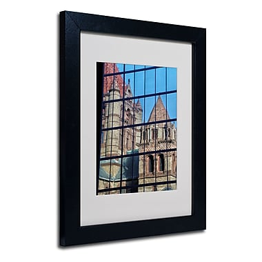 Trademark Fine Art CATeyes 'Trinity Church Reflection' Matted Art Black Frame 11x14 Inches