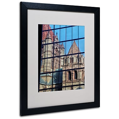 Trademark Fine Art CATeyes 'Trinity Church Reflection' Matted Art Black Frame 16x20 Inches