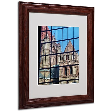 CATeyes 'Trinity Church Reflection' Matted Framed Art - 11x14 Inches - Wood Frame