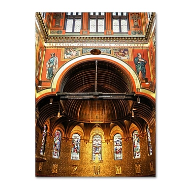 Trademark Fine Art CATeyes 'Trinity Church' Canvas Art 14x19 Inches
