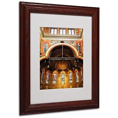 CATeyes 'Trinity Church' Matted Framed Art - 11x14 Inches - Wood Frame