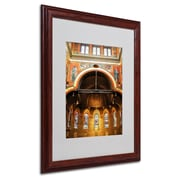 CATeyes 'Trinity Church' Matted Framed Art - 16x20 Inches - Wood Frame