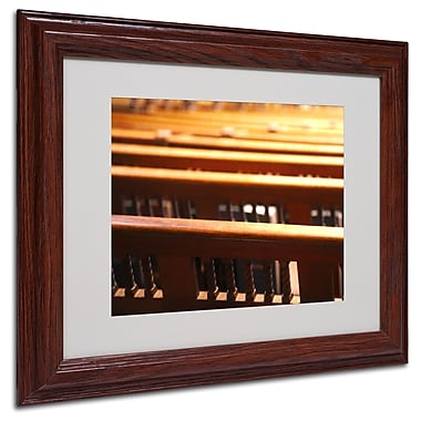 CATeyes 'Trinity Church 2' Matted Framed Art - 11x14 Inches - Wood Frame
