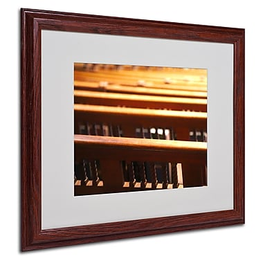 CATeyes 'Trinity Church 2' Matted Framed Art - 16x20 Inches - Wood Frame