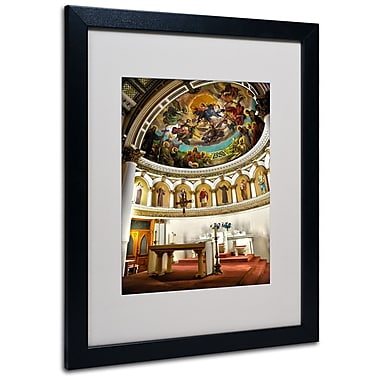 Trademark Fine Art CATeyes 'St. Leonards 2' Matted Art Black Frame 16x20 Inches