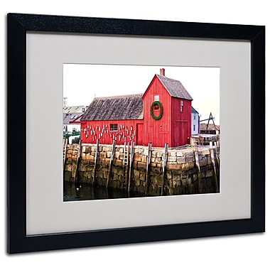 Trademark Fine Art CATeyes 'Boston 5' Matted Art Black Frame 16x20 Inches