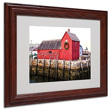 CATeyes 'Boston 5' Matted Framed Art - 11x14 Inches - Wood Frame