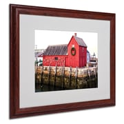 CATeyes 'Boston 5' Matted Framed Art - 16x20 Inches - Wood Frame