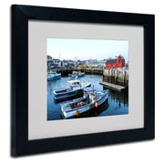 Trademark Fine Art CATeyes 'Boston 7' Matted Art Black Frame 11x14 Inches