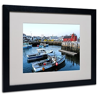 Trademark Fine Art CATeyes 'Boston 7' Matted Art Black Frame 16x20 Inches