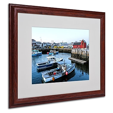 CATeyes 'Boston 7' Matted Framed Art - 16x20 Inches - Wood Frame