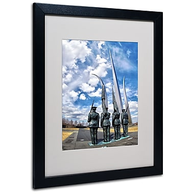 Trademark Fine Art CATeyes 'DC' Matted Art Black Frame 16x20 Inches