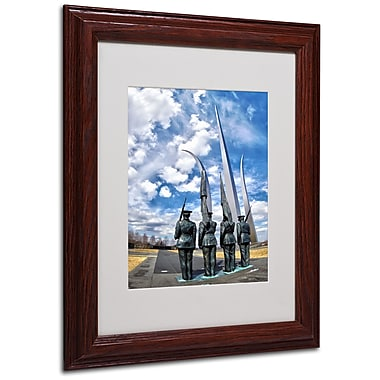 CATeyes 'DC' Matted Framed Art - 11x14 Inches - Wood Frame
