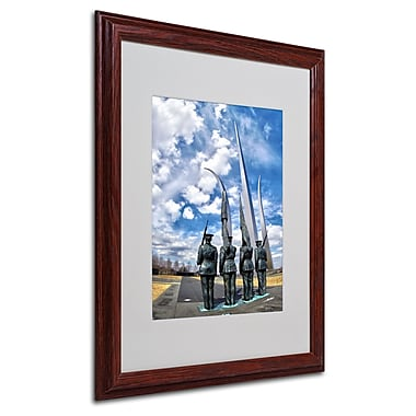 CATeyes 'DC' Matted Framed Art - 16x20 Inches - Wood Frame