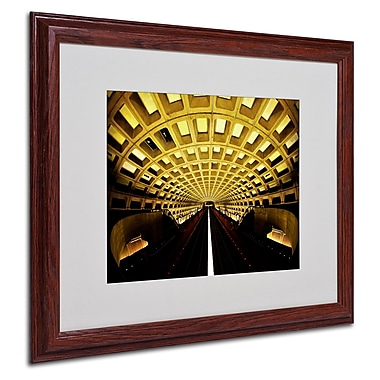 CATeyes 'Lines' Matted Framed Art - 16x20 Inches - Wood Frame