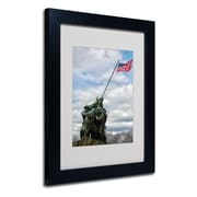Trademark Fine Art CATeyes 'Marine Corps Memorial 2' Matted Art Black Frame 11x14 Inches