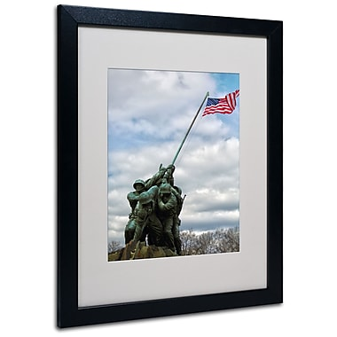 Trademark Fine Art CATeyes 'Marine Corps Memorial 2' Matted Art Black Frame 16x20 Inches