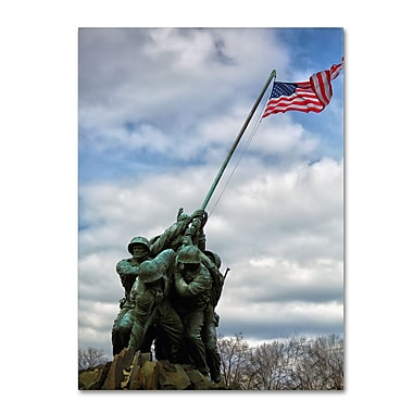Trademark Fine Art CATeyes 'Marine Corps Memorial 2' Canvas Art 14x19 Inches
