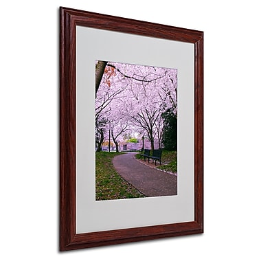 CATeyes 'The Hope' Matted Framed Art - 16x20 Inches - Wood Frame