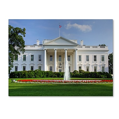 Trademark Fine Art CATeyes 'White House' Canvas Art 16x24 Inches