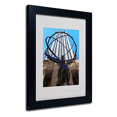 Trademark Fine Art CATeyes 'Atlas' Matted Art Black Frame 11x14 Inches