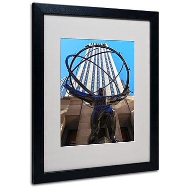Trademark Fine Art CATeyes 'Atlas' Matted Art Black Frame 16x20 Inches