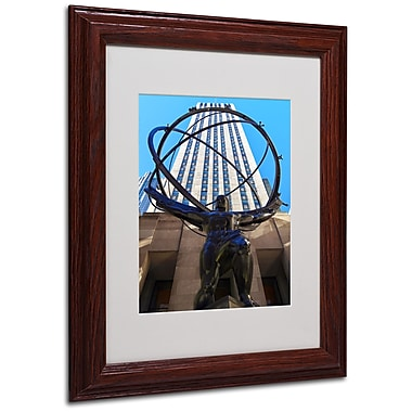 CATeyes 'Atlas' Matted Framed Art - 11x14 Inches - Wood Frame