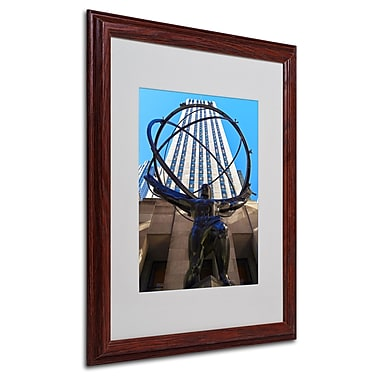 CATeyes 'Atlas' Matted Framed Art - 16x20 Inches - Wood Frame