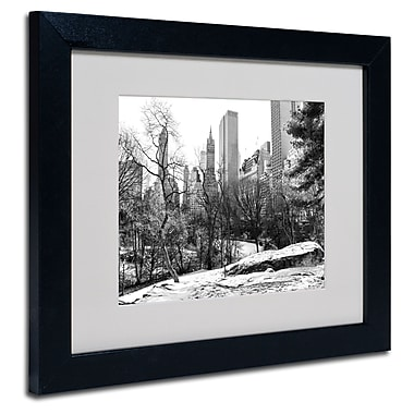 Trademark Fine Art CATeyes 'Central Park' Matted Art Black Frame 11x14 Inches